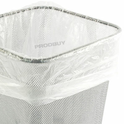 Pack of 100 Small White Square Bin Bags for Office Paper Waste Bins Baskets
