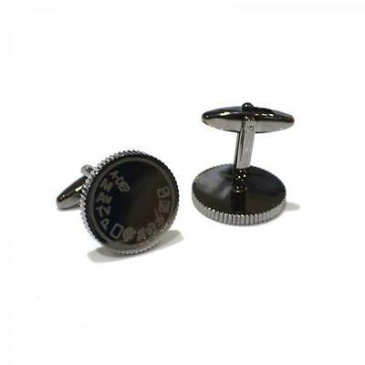 Camera Dial Style Cufflinks Cruise Party Photographer Wedding Present Gift Box