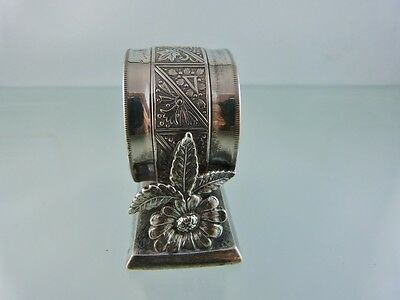 Flowers & Leaves Figural Napkin Ring 717 By The Acme Silver Company Toronto