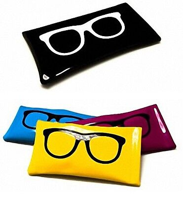 New Sunglasses Pouch Case White  Black  Mens Ladies Womens  Reading Glasses