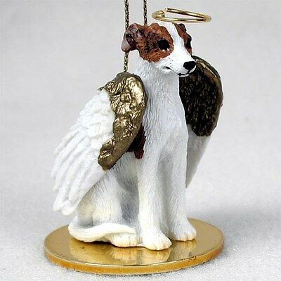 WHIPPET Brindle White Dog Tiny One ANGEL Ornament Figurine Statue