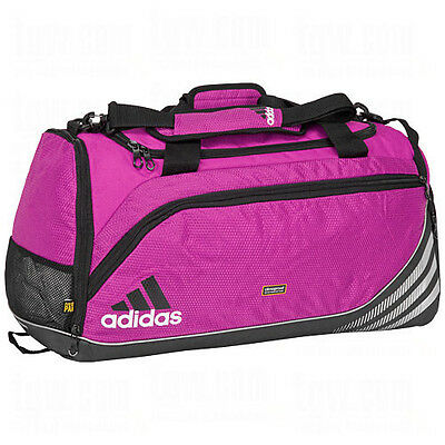 adidas Team Speed Training DUFFEL Bag GYM Fitness Soccer Travel Brand New PINK