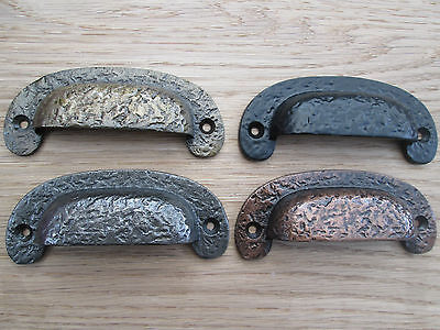 Cast Iron Cup Shell Victorian Style Drawer Cupboard Cabinet Door Pull Handles