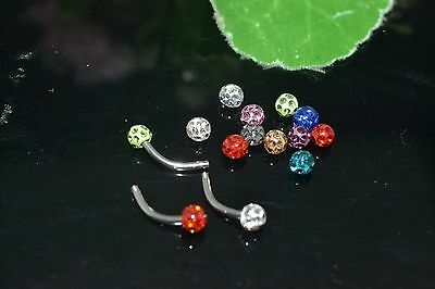 50pcs Balls 1.2x4mm Body Jewelry Replacement for Eyebrow/Lip Piercing Smoothly