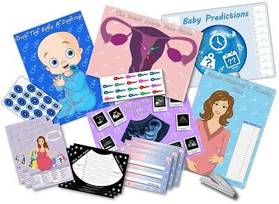 Baby Shower Party Games  -  6 GAMES  -  BOY/BLUE  -  up to 20 players - FREE P&P