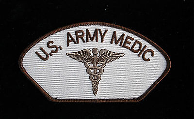 Us Army Field Medic Desert Hat Patch Doc Pin Up Fort Medical Corps Emt Ems Wow