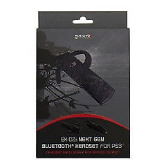 PS3 Gioteck Gioteck EX-02 Black Camouflage Bluetooth Headset kabellos NEUWARE