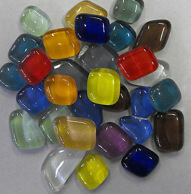 Glass Pebbles for mosaics art craft - 200g bag - Mixed packs or separate colours