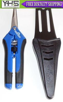 Hydrofarm Precision Curved Blade Pruner with Holster - Trimmer Scissor Pruning