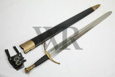 15 Century The Mercenary Sword Full Tang Tempered Battle Ready Hand Forged Sharp