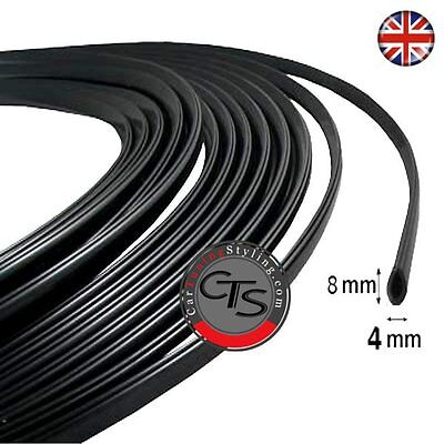 6m BLACK Car Door Scratch Protector Edge Guard Cover Strip Self Adhesive Trim