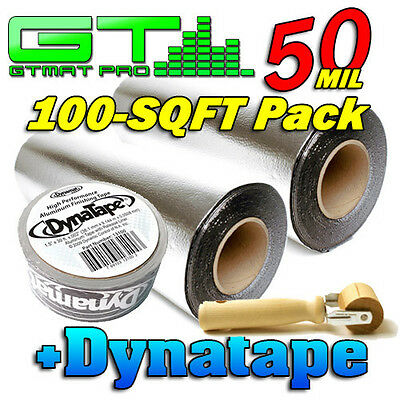 GTMat Pro 50mil 100sqft Bulk Pack Car Audio Sound Deadener+ DynaTape + Roller