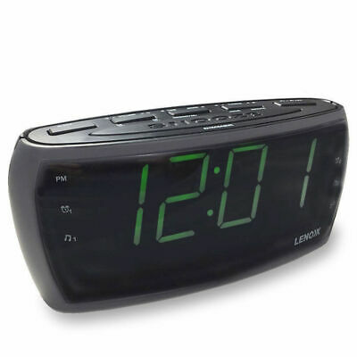 CR85 Alarm Clock Radio Digital LED AM FM/Aux In/Large Big Numbers Sight Impaired