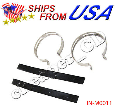 GY6 SCOOTER EXHAUST MUFFLER CLAMP BRACKET Rubber kit 125CC 150CC Moped 115