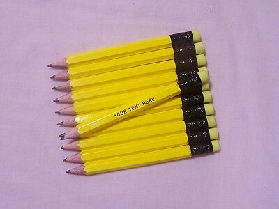 "24 ""NEON Yellow""  Personalized Golf Pencils w/Erasers"
