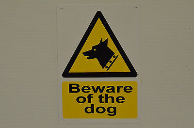 Beware Of The Dog Security Warning Safety Sign With/Without Holes Or Sticker A6