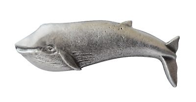 Blue Whale Pewter Pin Badge