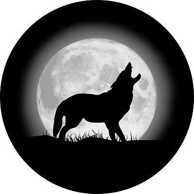 Wolf and Moon #2 Spare Tire Cover Wheel Cover Jeep RV Camper(all sizes available