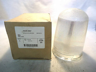 New In Box Crouse-Hinds G24 Glass Globe Color-Clear H/r