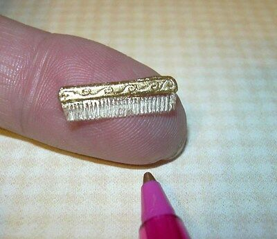 Miniature Tiny Lady's Comb with Gold Relief DOLLHOUSE Miniatures 1/12 Scale