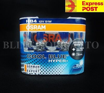 HB4 9006 OSRAM 5000k COOL BLUE HYPER PLUS + White Halogen light bulbs globes