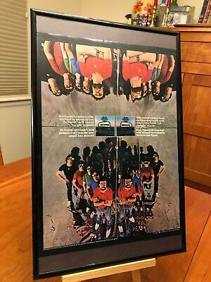 """1 BIG 11X17 FRAMED RARE BLUE OYSTER CULT LP ALBUM CD """"PROMO AD"""" - 8 available!"""
