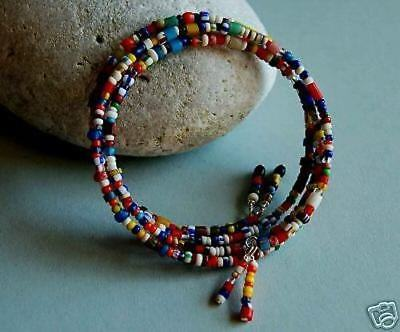 Genuine African Christmas/Love Trade Bead Bangle-Original One size fits all
