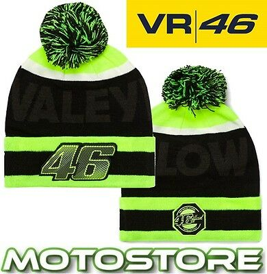 Vr46 Valentino Rossi Official Beanie Bobble Hat Vrfortysix Genuine New