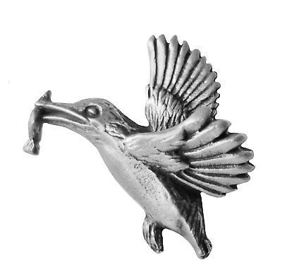 Kingfisher with Dinner Pewter Pin Badge