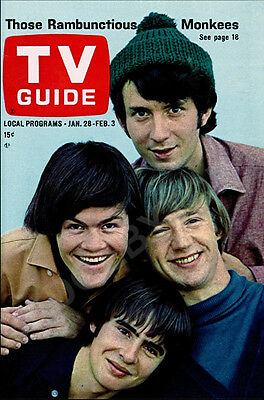 THE MONKEES LARGE FRIDGE MAGNET - Style 'B' - CLASSIC RETRO COOL!