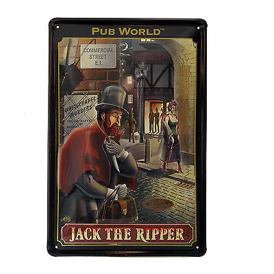 Blechschild Pub World JACK THE RIPPER Schild 3 D Optik  20 x 30  Neu