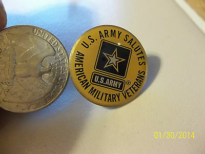 US ARMY Salutes AMERICAN MILITARY VETERANS Hat Pin Tack Star Logo U.S. Army NEW