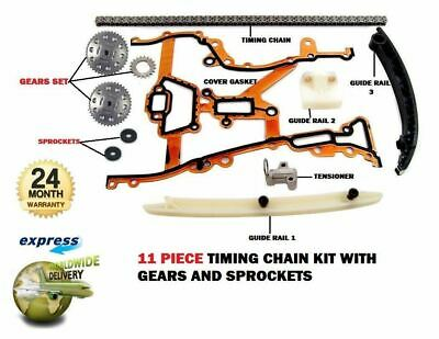 For Vauxhall Corsa D 1.0 1.2 2006-->New Timing Cam Chain Kit With Gears + Gasket