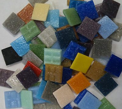 2cm x 2cm vitreous glass tiles for mosaics, art and craft in 200g mixed bags