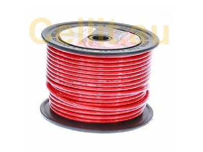 4AWG  180Amp RED DC POWER H/DUTY AUTO CABLE AMPLIFIER SOLAR ETC 4 GAUGE 30m REEL