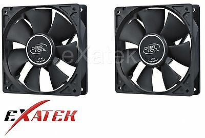 2 x Deepcool XFAN120 Silent 120mm Hydro Bearing Case Fan 28db 4-pin Molex