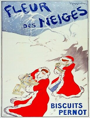 3074.Santa Mrs Claus French POSTER.Red.Biscuit Pernot.Home room office art decor