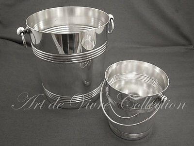 Christofle Champagne Bucket and Ice Bucket Set, Art Deco style