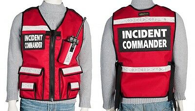 Incident Command Vest, Safety, Custom, Reflective, Custom size, color, names