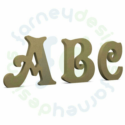 "18mm thick MDF Wooden Letters Free Standing option 4"", 6"", 8"", 10"", or 12"""