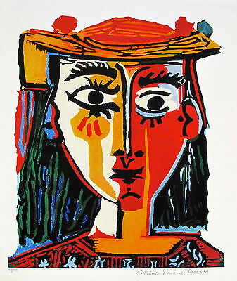 """Pablo Picasso GIRL BEFORE MIRROR Estate Signed Limited Edition Giclee 26/"""" x 20/"""""""