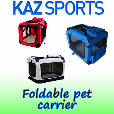 Fabric Foldable Pet Carrier / Kennel Cage - Portable For Dog, Cat, Puppy Rabbit