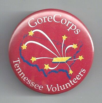 Tough 2000 Gorecorps Tennessee Volunteers Campaign Button