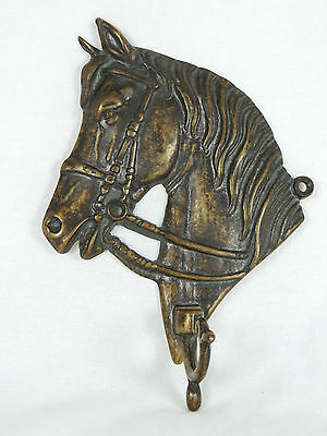 Horse Head Hook,Solid Brass, Country Cottage Decor