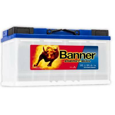 Pair of 12v Banner 110ah Energy Bull  Deep Cycle Leisure Battery (95751)
