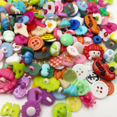 100PC New many styles Plastic the the Button/Sewing lots Mix Free shipping PT80