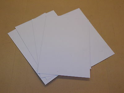 5 Pack 1mm A4 White KYDEX T sheet 297 mm x 210 mm P-1 Haircell, Holster-Sheath.