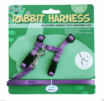 Happy Pet Rabbit Harness & Lead - also ideal size for Guinea Pigs - Purple