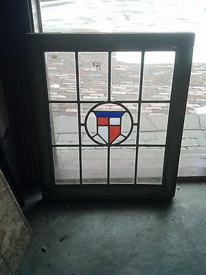 Patriotic crest stained glass window   (SG 1603)