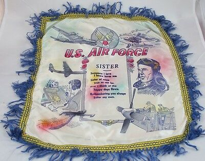 bb US Air Force WWII Pillow Cover Sister